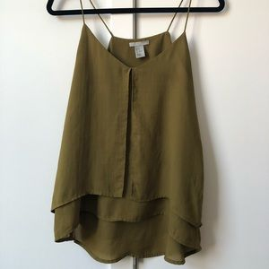 Flowy top olive green